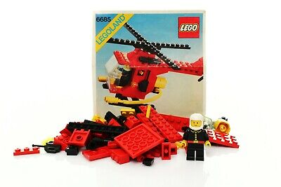 Lego Classic Town Fire Set 6685-1 Fire Copter 1 100% complete vintage rare 1982