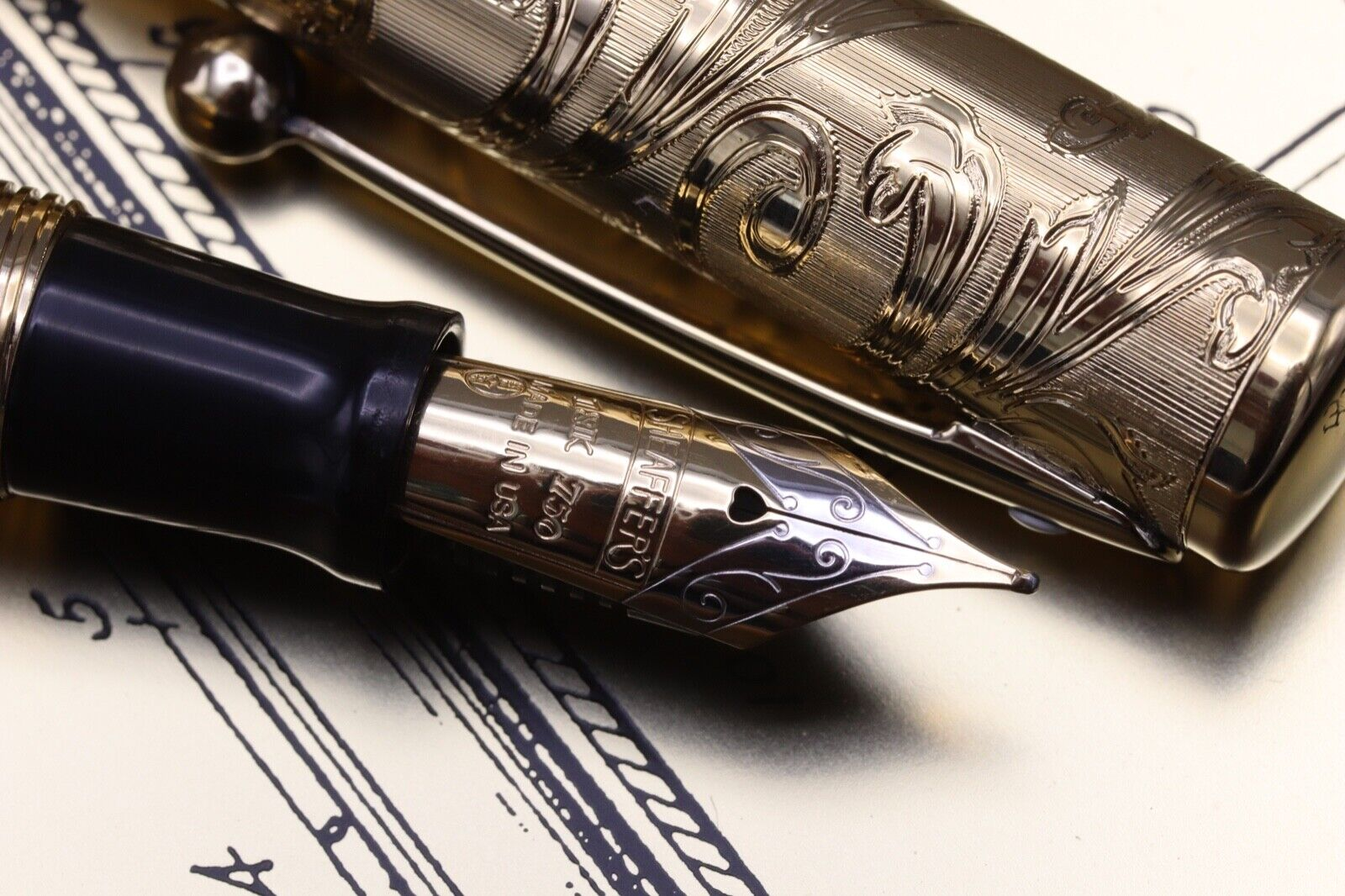 W.A Sheaffer Commemorative LE Lever Fill Fountain Pen - Fully Serviced July 21 3