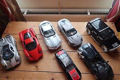 Job Lot Of 7 - 1/18 diecast model cars - Used Condition - 99p Start Bid - UK