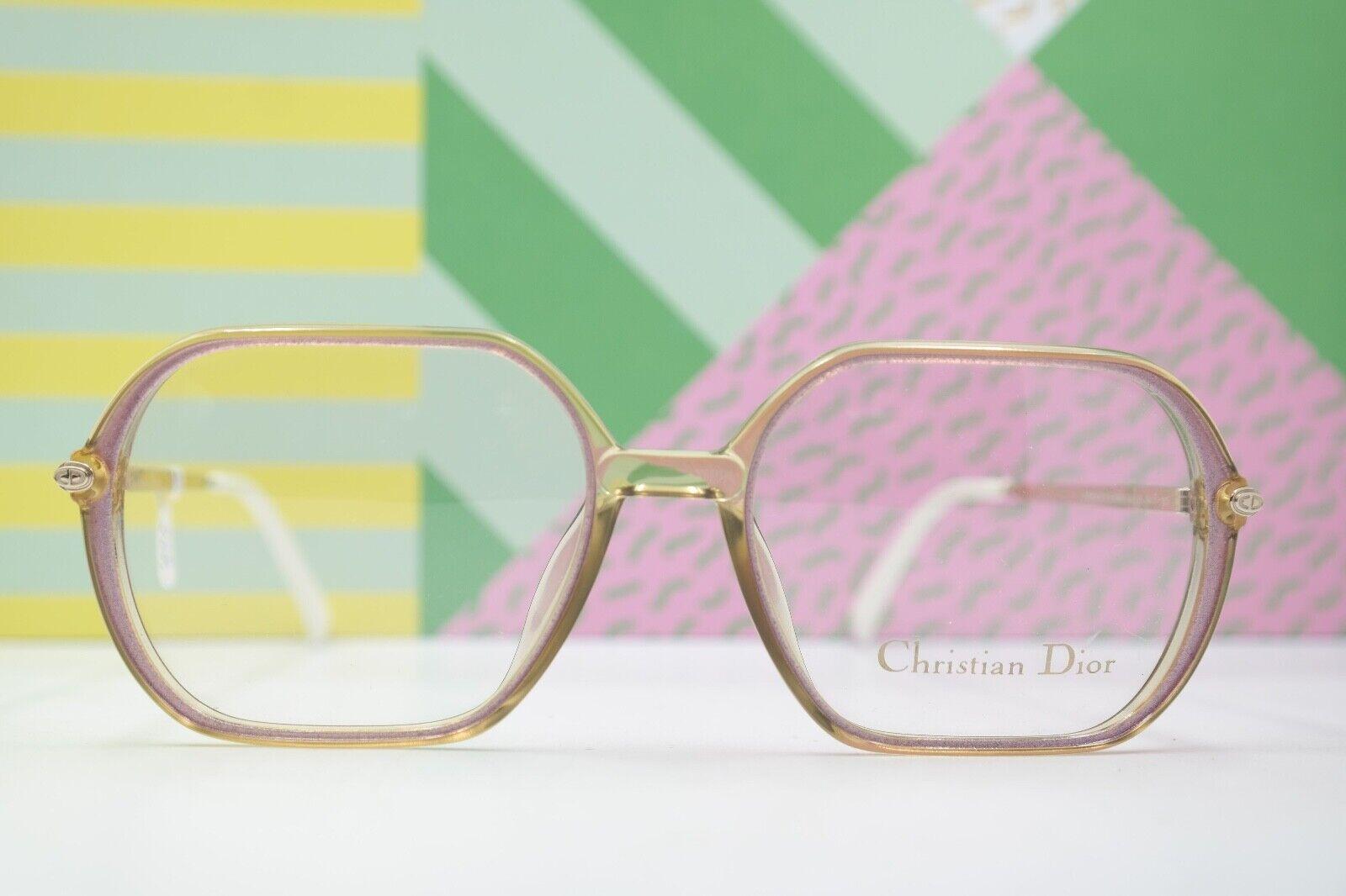Brille Brillengestell Vintage Christian Dior 2343 80 lila silber 54/17 135 NOS