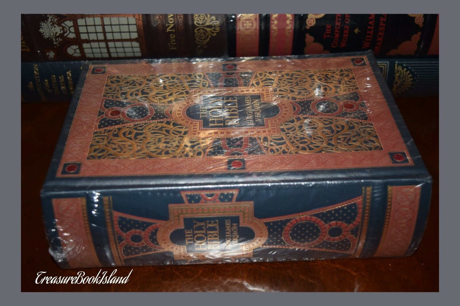 Holy Bible KJV Illustrated Gustave Dore Sealed Leather Bound Collectible Gift
