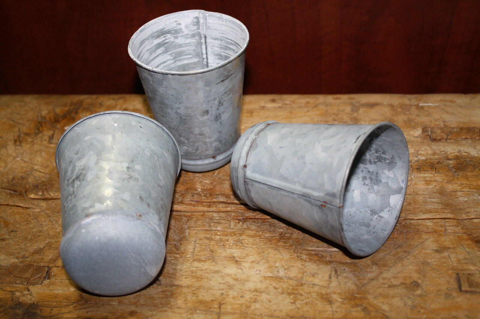 150 GALVANIZED Candle Holder Primitive TIN CUP Votives Candles 4 inch tall