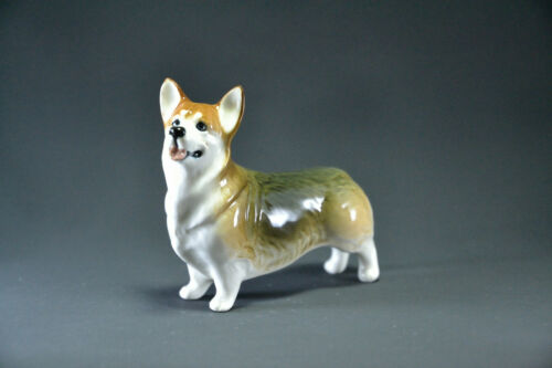 Statuette made of porcelain dog Welsh Corgi