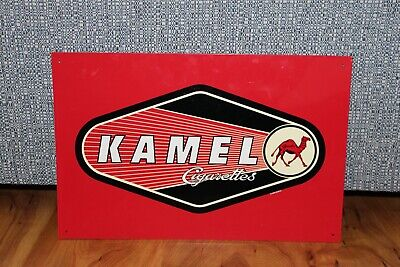 Used Vintage 1998 Kamel Cigarettes Red Tin Advertising Sign