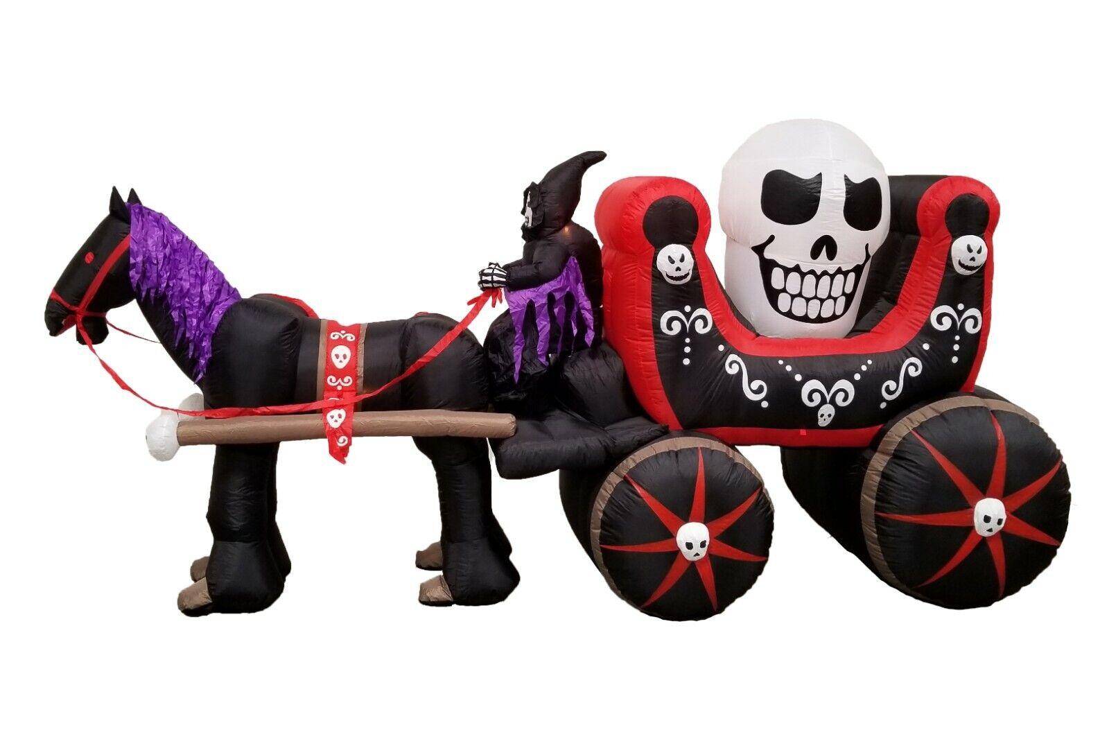 12 foot long halloween inflatable skeleton ghost