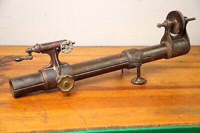 Antique Bench Lathe E.a. Marsh Pat. 1878 Watchmakers Wood Lathe Machine Parts