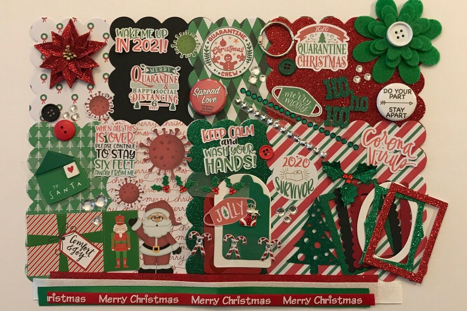 Quarantine Christmas Custom Chipboard Mini Book DIY Album Kit Scrapbook - $14.00