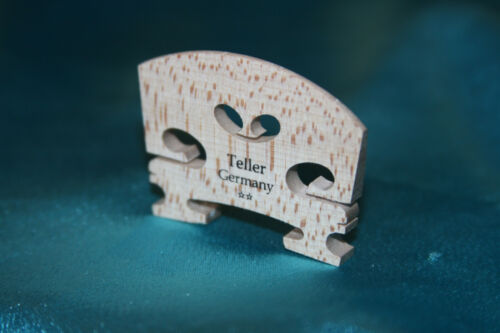 Fine Quality Fitted Flamed Maple Bridge by Teller (Germany), 4/4 Size, MPN 5405