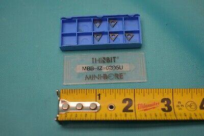 New Thinbit Minibore Mbb-1z-02d5u Inserts 5 Pcs