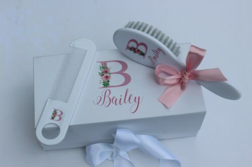 Personalized Baby Brush & Comb Set, Personalized Baby Gift, Baby Brush Baby Comb