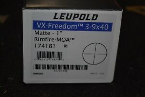 Leupold VX-Freedom 3-9x40mm Matte Rifle Scope Rimfire-MOA Reticle 174181