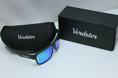Verdster Mirrored Polarized Sunglasses for Men & Women - Trendy & Stylish Black