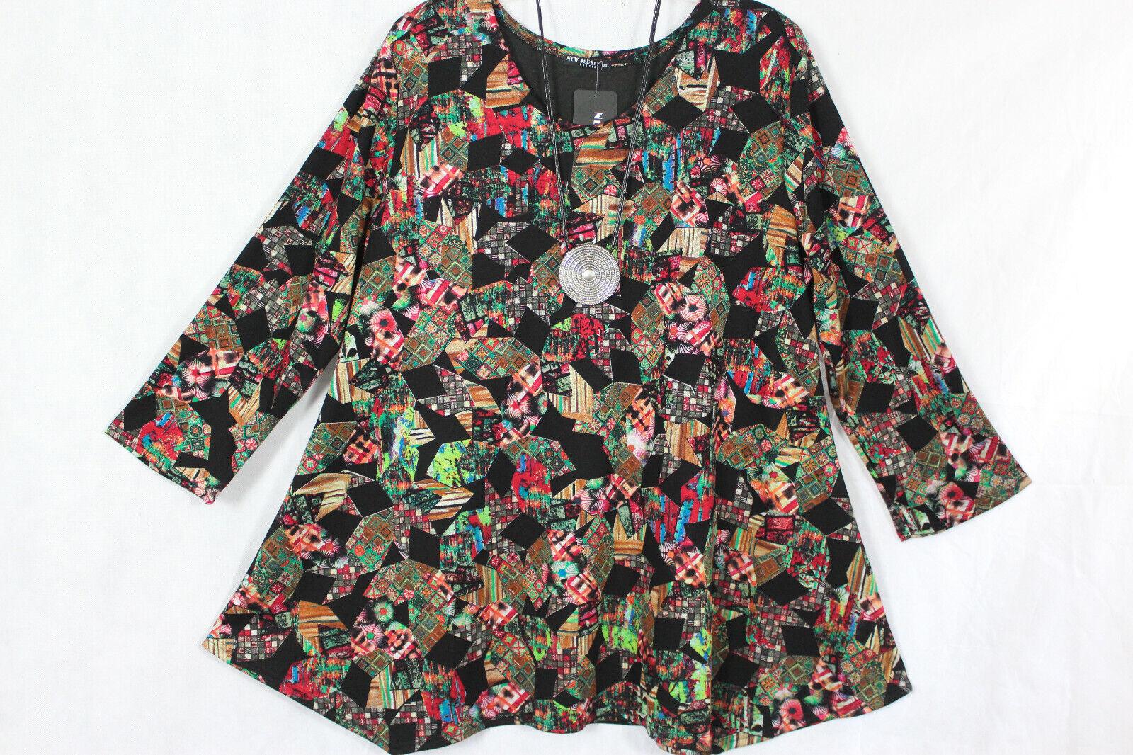 New Jersey 🧡 Eyecatcher Tunika, Shirt, Kleid A-Linie, bunt Gr.3 (56/58)