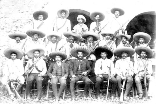 1910-Mexican Revolution-Emiliano Zapata and His Staff-Zapatismo
