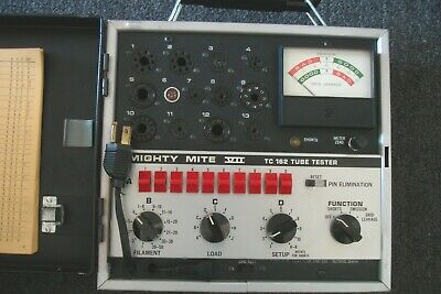 Sencore Tc162 Mighty Mite Vii Tube Tester Works Great