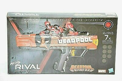 NEW Nerf Rival Marvel Deadpool Apollo XV-700 Blaster Gun. LIMITED EDITION