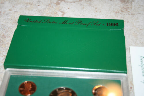 1996 US Proof Set Kennedy Half Deep Cameo COA BU Gem Proof Set Free Shipping 230