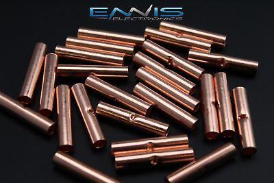 8 Gauge Copper Butt Connector 100 Pk Crimp Terminal Awg Battery Cur8