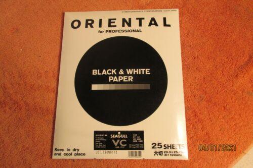 "Oriental Seagull VC Double Wt Black & White Paper 8x10"" Sheets 25"