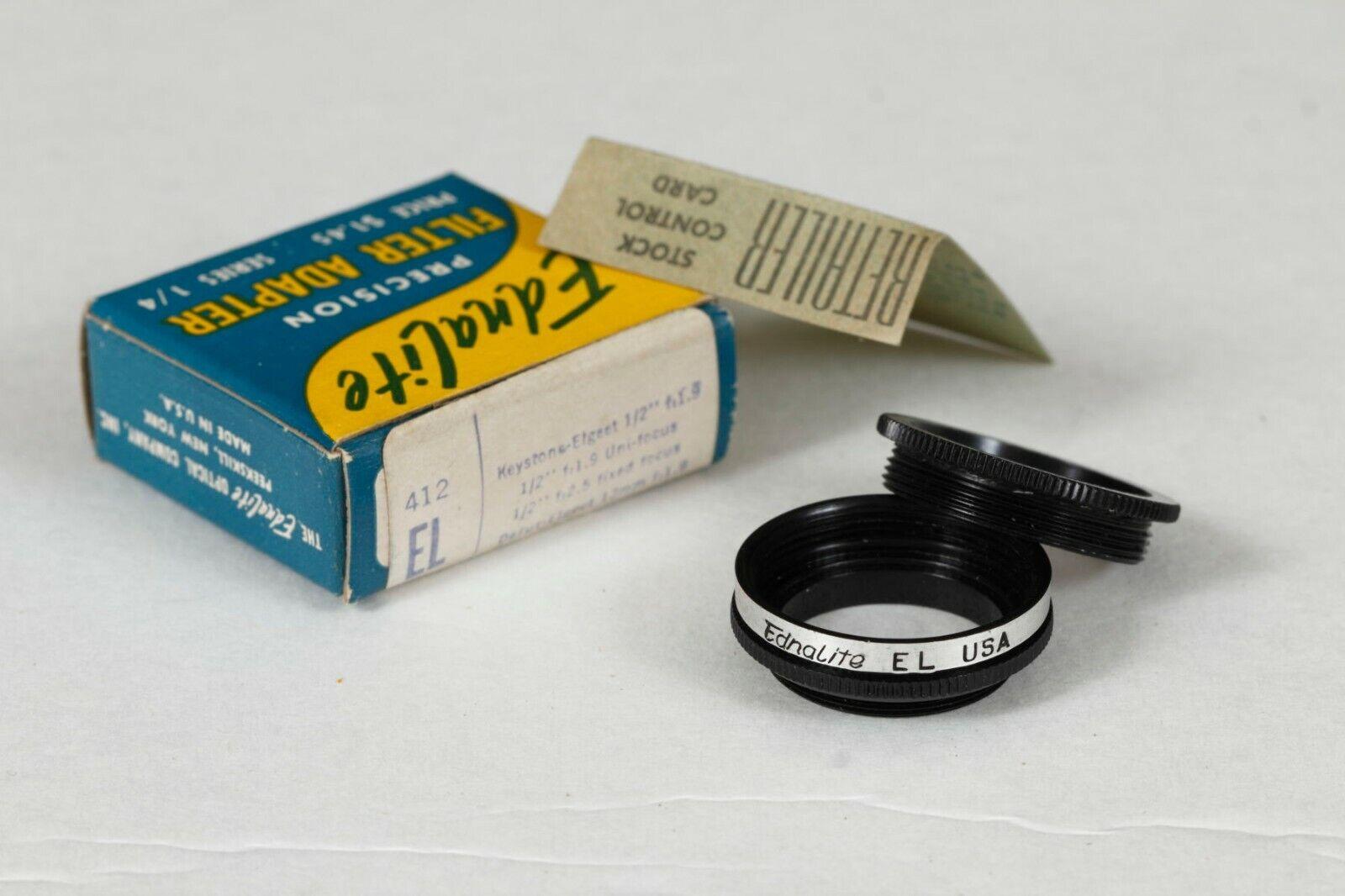 Ednalite 412EL Series 1/4 Screw-in Adapter For Keystone, Elgeet NOS - $15.75
