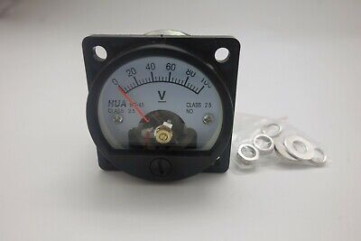 Dc 0-100v Analog Voltmeter Analogue Voltage Panel Meter So45 Directly Connect