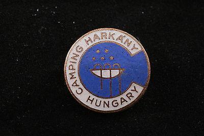 Healing Waters Spa - Hungarian Hungary Camping Harkany Spa Medical Waters Natural Healing Badge Pin