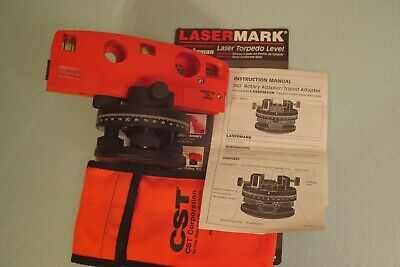 Cstberger Lasermark Laser Torpedo Level W 360 Rotary Adapter Tripod Ready