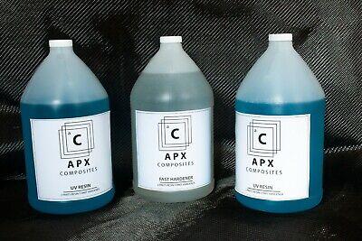 Apx Uv Resin 3 Gallon 384 Oz Fast Hardener Carbon Fiber Epoxy Resin