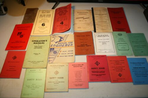 19 VINTAGE PENNSYLVANIA RAILROAD PRR  BOOKS MANUALS INSTRUCTIONS BOOKLETS