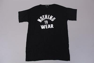 boohoo Women's Plus Yasmin Nothing To Wear T-Shirt Dress SV3 Black US:14 UK:18
