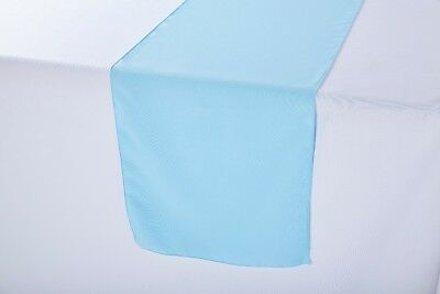 14 x 108 inch Polyester Table Runner Baby Blue