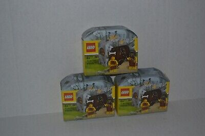 3 Lego Cave Man & Cave Woman Sets 5004936 6194786