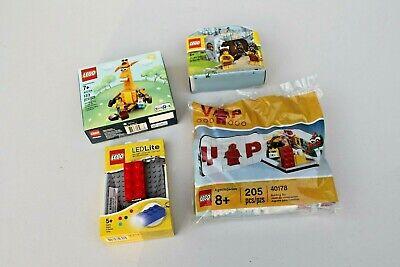 LEGO VIP 40178, Promo 5004936, 40228 & LEGO LED Keychain NIB
