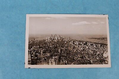 Vtg Rppc Real Photo Postcard View From Empire State Building New York Unused