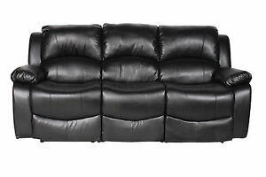 BLACK OR BROWN RECLINING SOFA'S AND CHAIRS,100% BONDED LEATHER, CHEAPEST ON EBAY