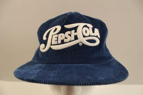 VINTAGE Pepsi Cola Blue Corduroy Snapback K-PRODUCTS Cap Hat HTF Iowa USA