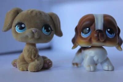 Littlest Pet Shop Golden Retriever Dog #320/St. Bernard Puppy #76