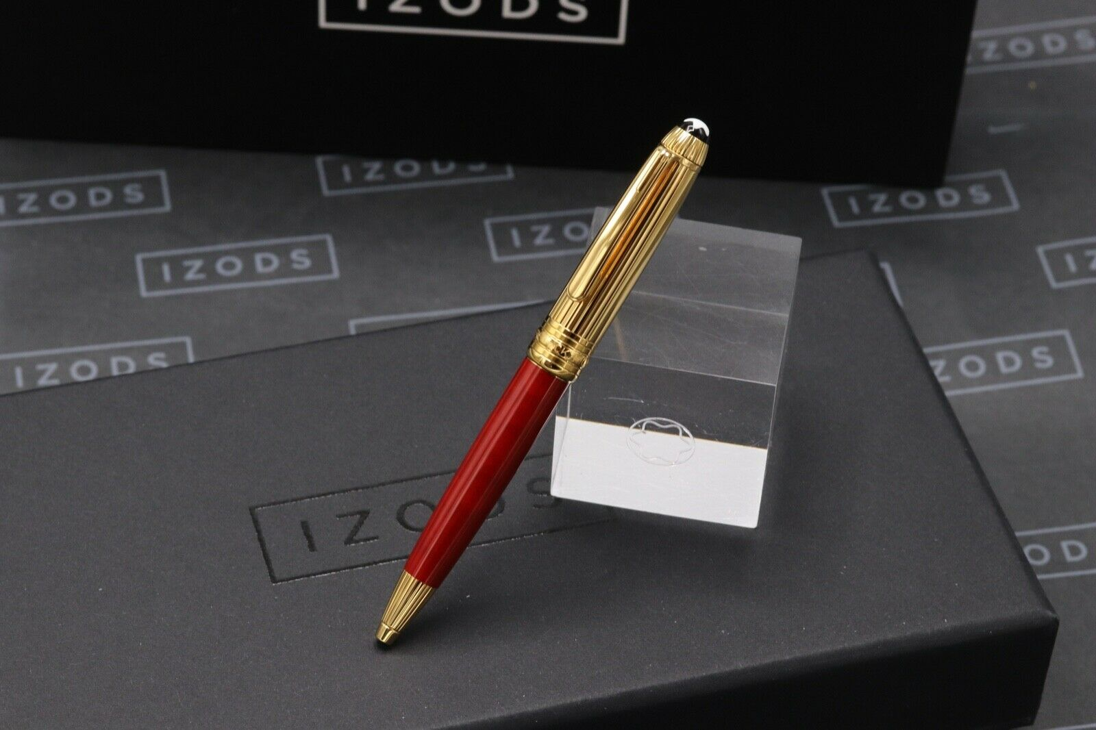 Montblanc Meisterstuck Mozart Coral-Red Gold-Plated Ballpoint Pen 1