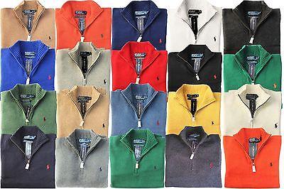 *NWT - POLO RALPH LAUREN Men's 1/2 Half-Zip Sweater - Assorted Colors : S - 2XL