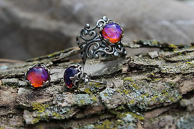 Dragon's Breath Fir Opal Ring and Earrings Huge Sale Fall gifts Back to - Dress Up Back To School