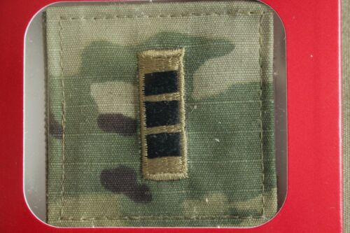 US ARMY GI MULTICAM OCP W-3 CW3 HOOK BACK CAMOUFLAGE CAMO UNIFORM RANK PATCH