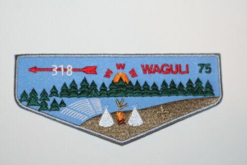 BOY SCOUTS  OA ORDER OF THE ARROW WAGULI LODGE 318 NEW 2020 75TH ANNIV F3 ISSUE