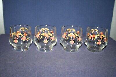 9 Ounce Juice Glasses (4 Autumn Leaf 9 oz Juice or Rocks Glasses )