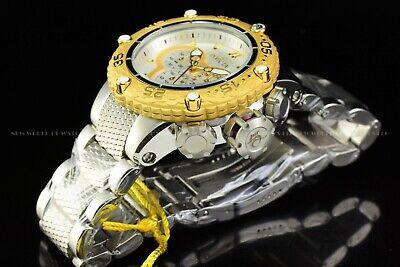Invicta Men 51mm Special Subaqua Noma VI Chrono 18K Gold Plated White SS Watch