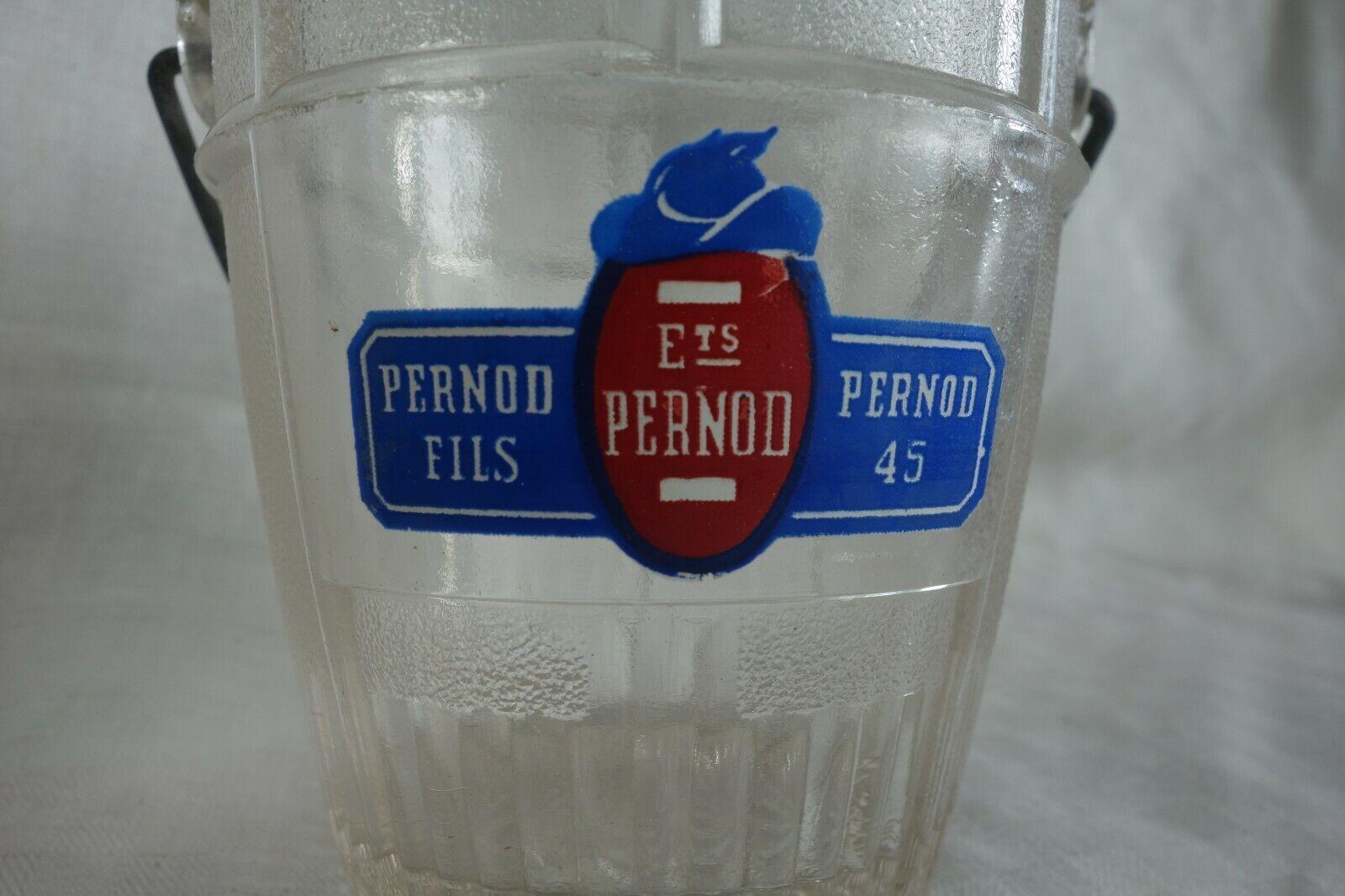 Seau à glaçons pernod fils en verre
