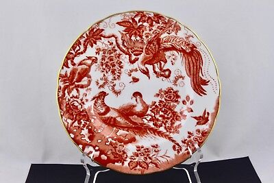 ROYAL CROWN DERBY RED AVES SALAD PLATE BONE CHINA #3 - ENGLAND