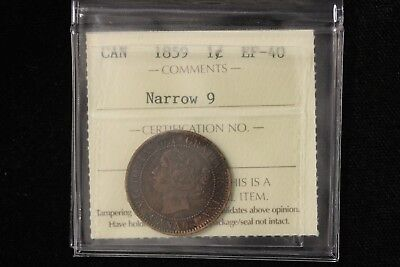 1859 CANADA. LARGE CENT.