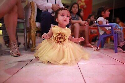 Prinzessin Belle Baby Mädchen Kleid Erste 1. Geburtstagsparty Brautkleid Beauty ()