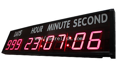 Used, 4'' Large LED Countdown Clock Count Down Up Days For Sports Race Olympic Games for sale  Shipping to Canada