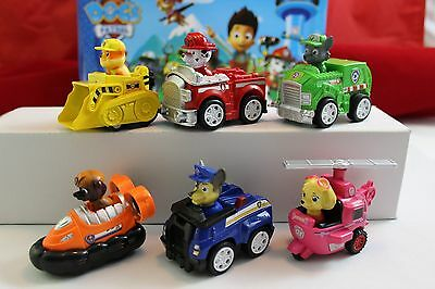 6pc Nickelodeon Dog Paw Patrol Marshall Rubble Chase Please read the Description